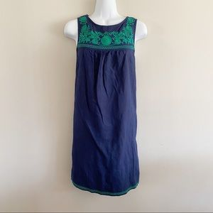 J. Crew navy/green dress